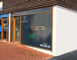 nº 8 pour I need some Graphic Design for shop front window of Eco Dental Surgery par jamshaidrazaCG