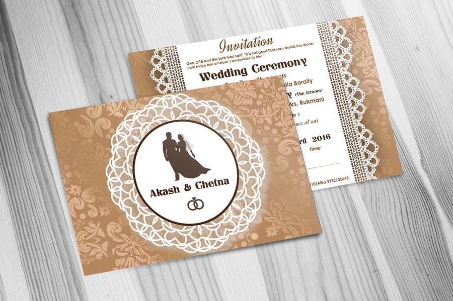 Entry 8 By Saranyaarchi For Create A Wedding Invitation
