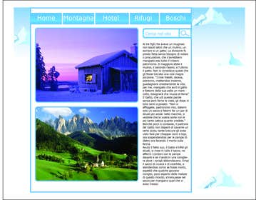 #5 para Disegnare la Bozza di un Sito Web for: offerte soggiorni (con attività) in località turistica di montagna por ZenoDesign