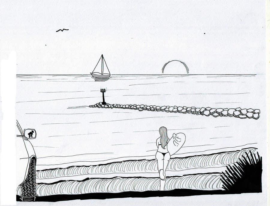 Entry 11 by jgu568fab8a3b094 for hand drawn natural cartoon ocean contest entry 11 for hand drawn natural cartoon ocean surf scene landscape voltagebd Gallery