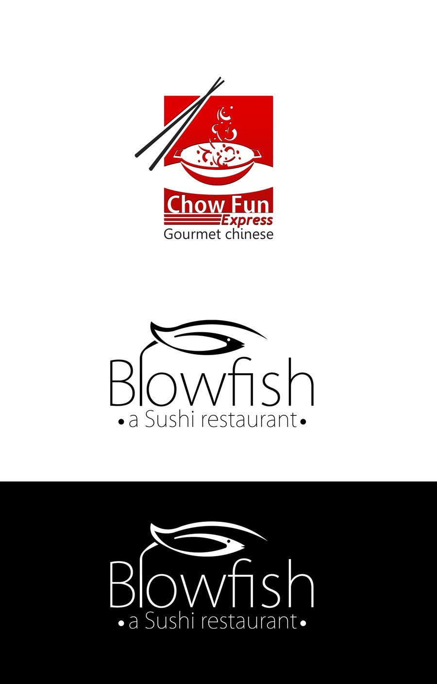 #102 for Design two Logos for a Chinese restaurant and a sushi restaurant by KhalfiOussama