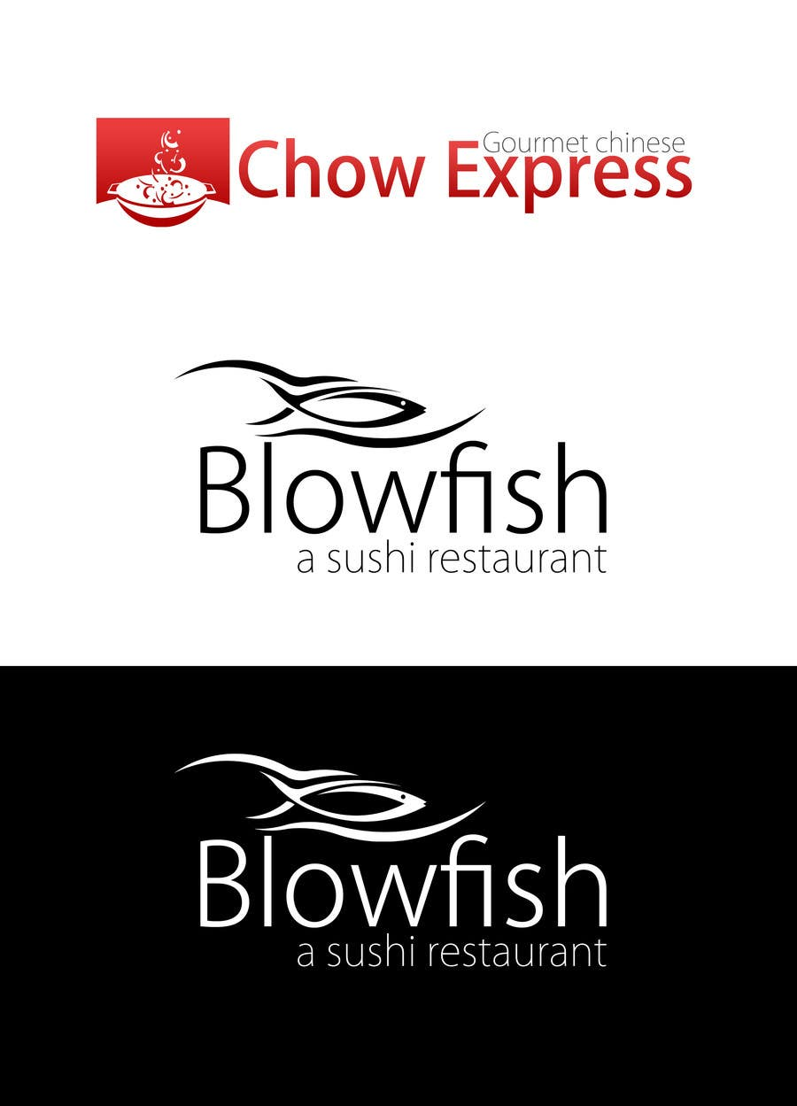 #193 for Design two Logos for a Chinese restaurant and a sushi restaurant by KhalfiOussama