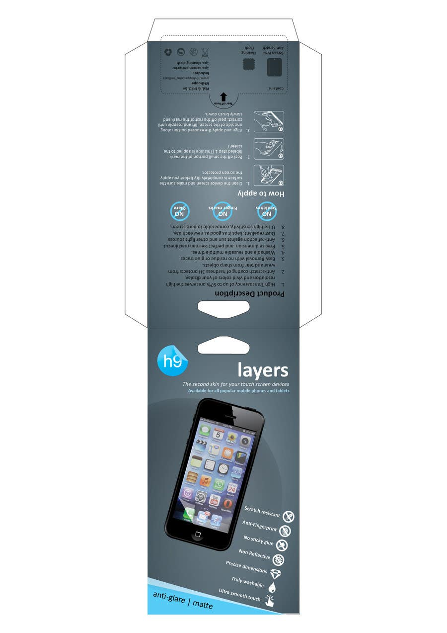 #9 for Need Print and Packaging Designs for screen protector brand by CBDesigns101