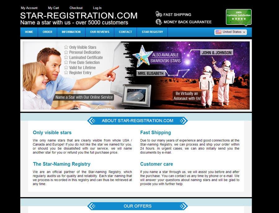 Proposition n°40 du concours Design a banner for a star naming website