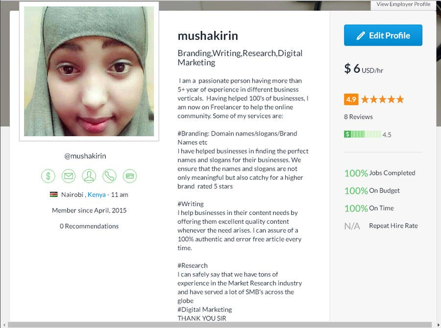 Entry #783 by mushakirin for Create an Amazing Profile to Win $2,000