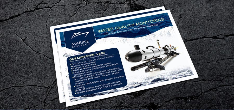 Конкурсная заявка №5 для Flyer for water quality monitoring devices