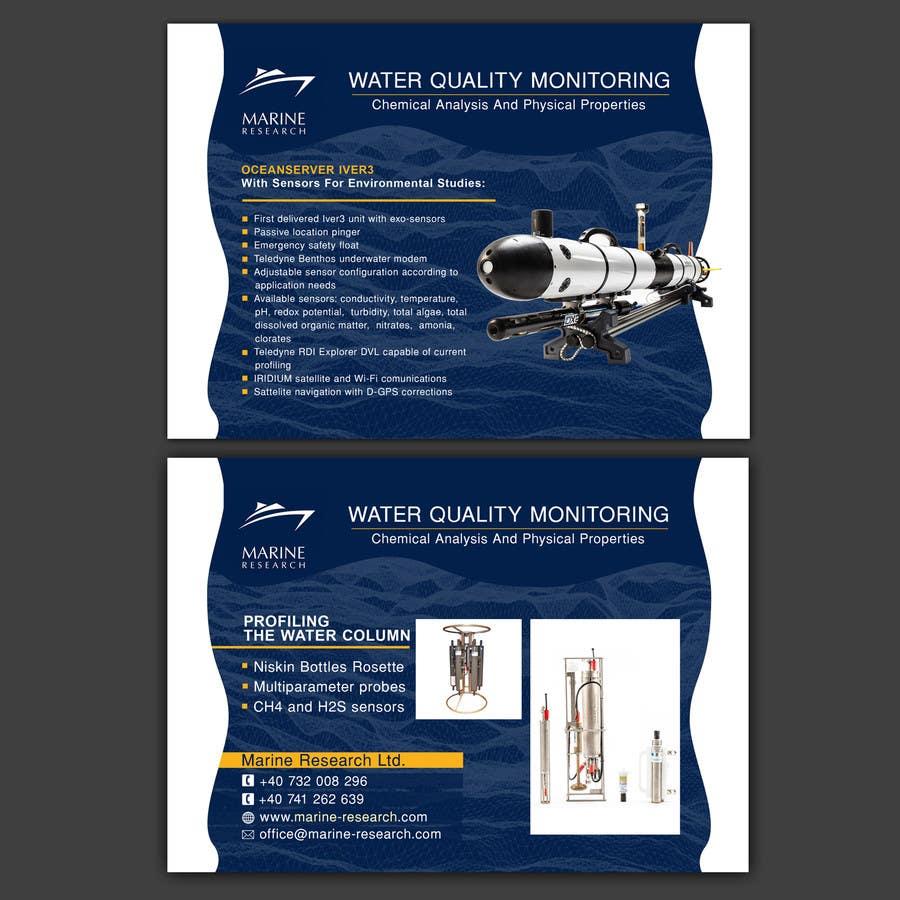 Конкурсная заявка №24 для Flyer for water quality monitoring devices