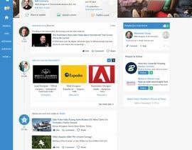 #59 para Design a Website Mockup for a Business Social Network like Linkedin de Aloknano