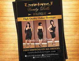 #14 for Online Clothing Boutique Flyer VANITY DOLLS BOUTIQUE by rajeshe180