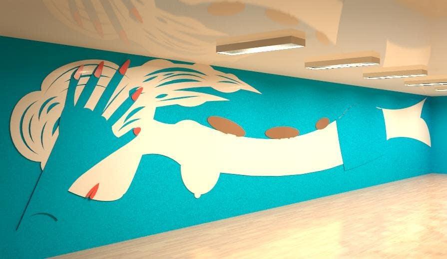 Bài tham dự cuộc thi #30 cho Create wall design for a nail spa