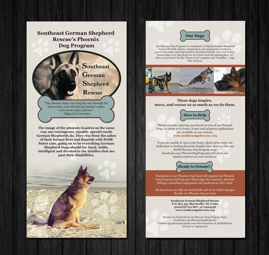 Inscrição nº                                         5                                      do Concurso para                                         Design a Brochure for Southeast German Shepherd Rescue's Phoenix Dog Program