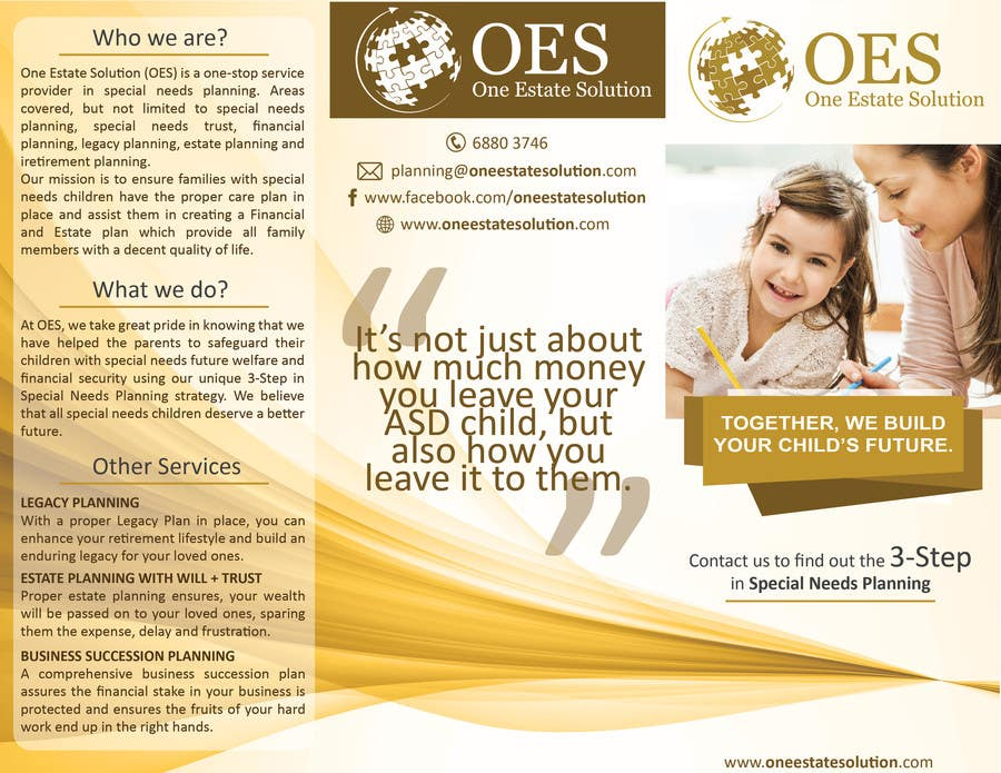 Estate Planning For Special Needs >> Entry 13 By Darshanshah92 For Design A Brochure On Special