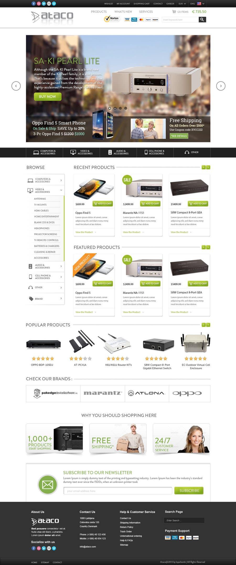 Penyertaan Peraduan #54 untuk Build an Online Store for ataco