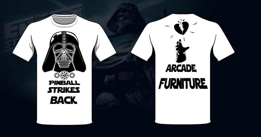 Inscrição nº 33 do Concurso para Design a T-Shirt for Arcade Furniture mixing pinballs with metal or religion, or whatever you want!
