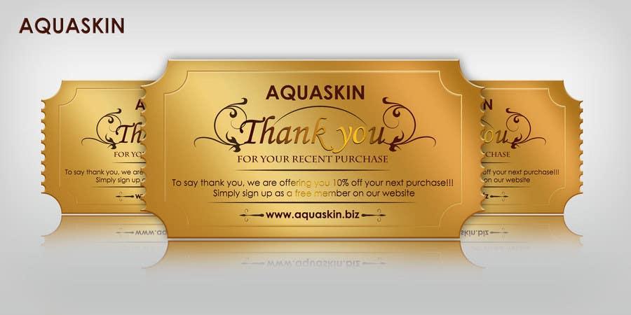Konkurrenceindlæg #33 for Design a one side voucher for AQUASKIN...