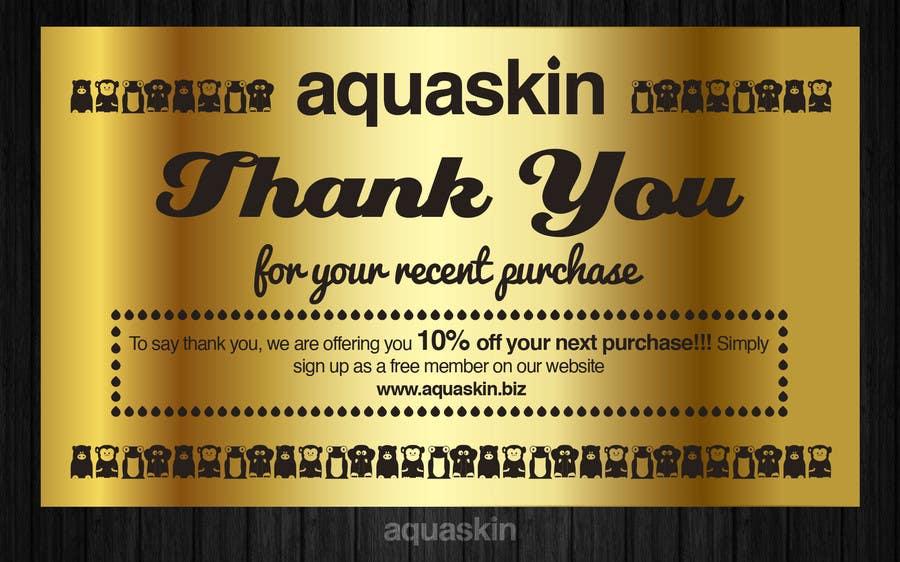 Inscrição nº 16 do Concurso para Design a one side voucher for AQUASKIN...