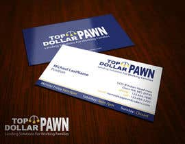 #131 untuk Business Card Design for Top Dollar Pawnbrokers oleh topcoder10