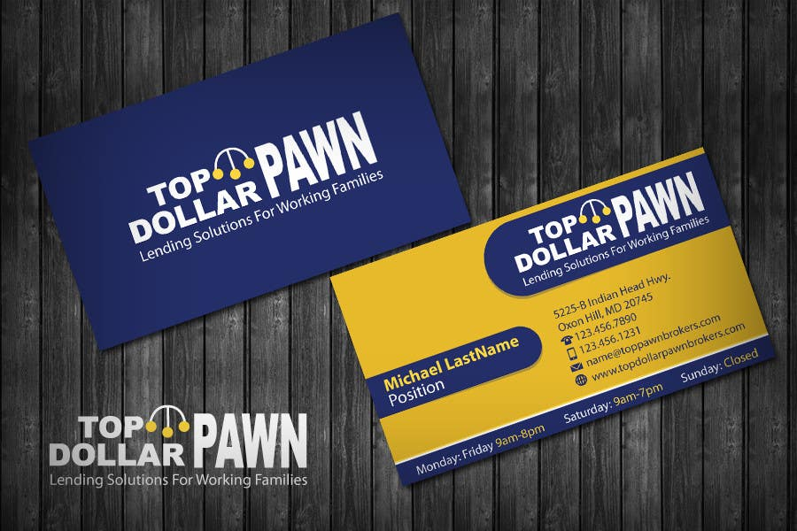 Entry #191 by topcoder10 for Business Card Design for Top Dollar ...