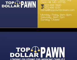 #15 untuk Business Card Design for Top Dollar Pawnbrokers oleh JoleenC