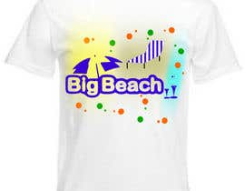#87 para Tshirt design for Big Beach por scoica