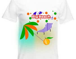 #86 para Tshirt design for Big Beach por scoica