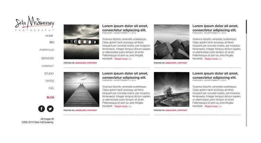 Inscrição nº 15 do Concurso para Design a Website Mockup for a Photographer
