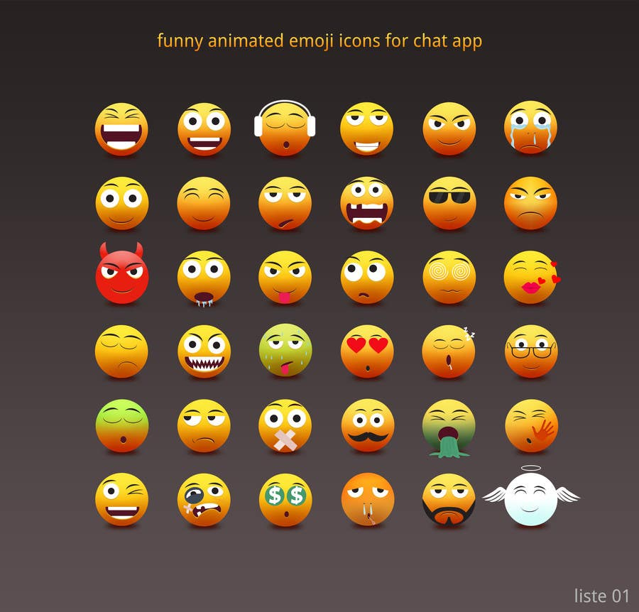 Funny animated icons