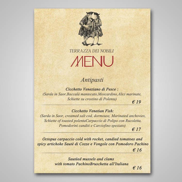 entry 1 by boris03borisov07 for restaurant fine dining menu