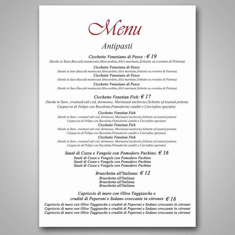 entry 4 by boris03borisov07 for restaurant fine dining menu