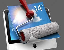 nº 74 pour Wallpaper App Icon par kiekoomonster