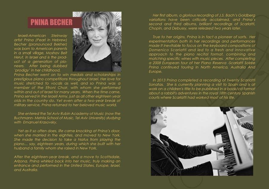 Inscrição nº                                         2                                      do Concurso para                                         I am the newly apppointed agent for a piano show, I need a brochure to help me generate sales B2B