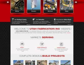 nº 30 pour Design a Website Mockup for Utah Fabrication par iNoesis