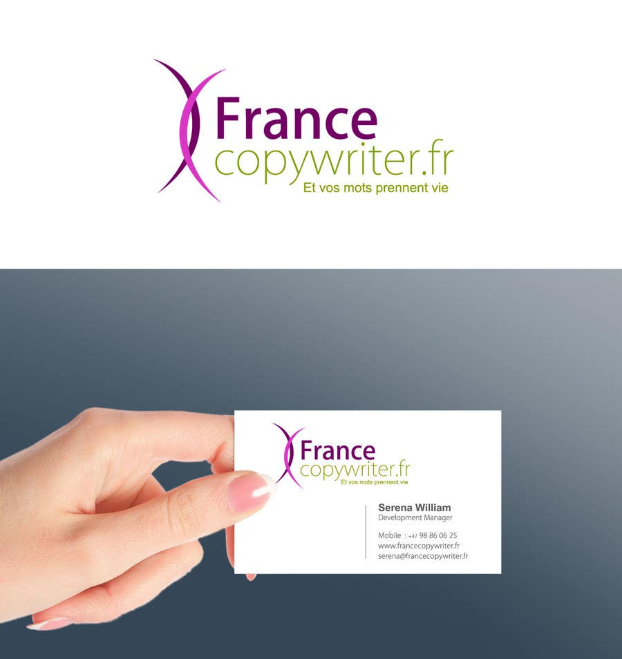 #31 for Require logo and business cards design for:  Francecopywriter (international logo) by smarttaste