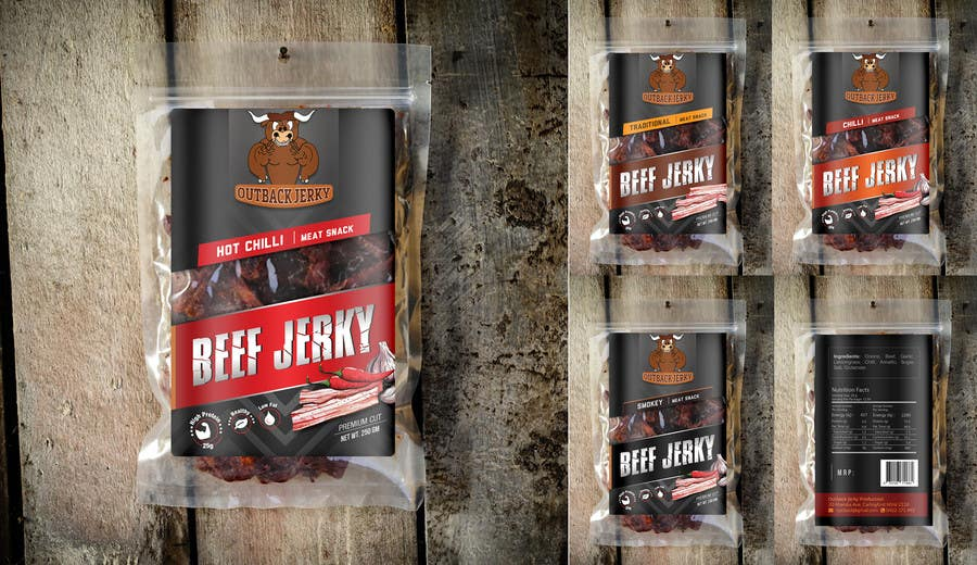 Contest entry 22 for create print and packaging designs for beef jerky package stickers