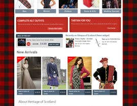 #5 cho HeritageOfScotland.com - online store graphic design. Functional mockup is ready. Probable job offer for three best designers. bởi kethketh