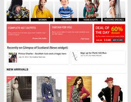 #11 para HeritageOfScotland.com - online store graphic design. Functional mockup is ready. Probable job offer for three best designers. por kethketh