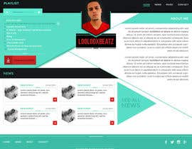 #5 for Design a Website Mockup for Loolooxbeatz af mcristaldo