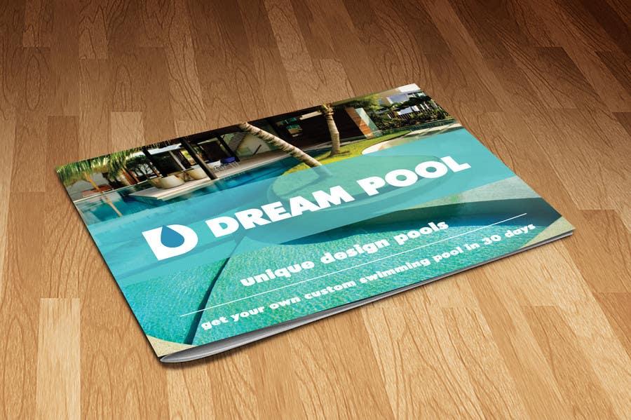 Design a brochure swimming pool construction company for Pool design company polen