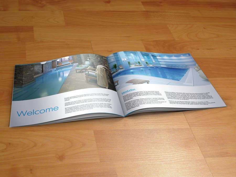 Entry 18 by tramezzani for design a brochure swimming for Swimming pool installation companies