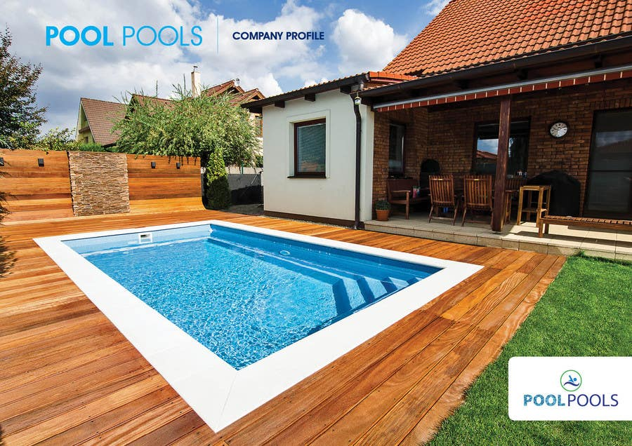 Design a brochure swimming pool construction company for Swimming pool installation companies