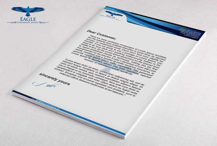 #19 for Design my Company Letterhead by Artimization