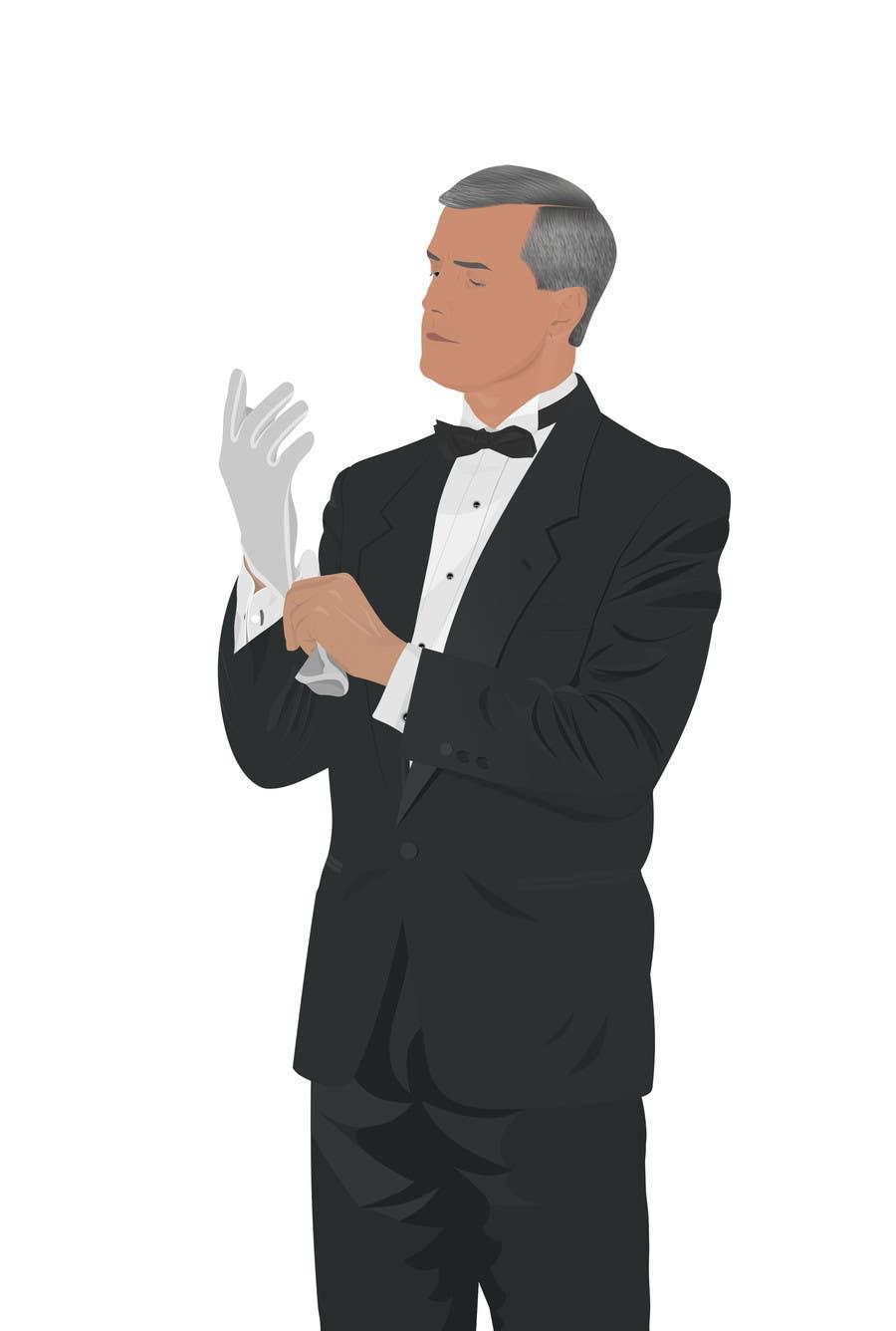 Penyertaan Peraduan #                                        12                                      untuk                                         Graphic Design of a Butler