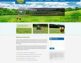 #9 para Design a Website Mockup for IslandFarming.com & Logo por tania06