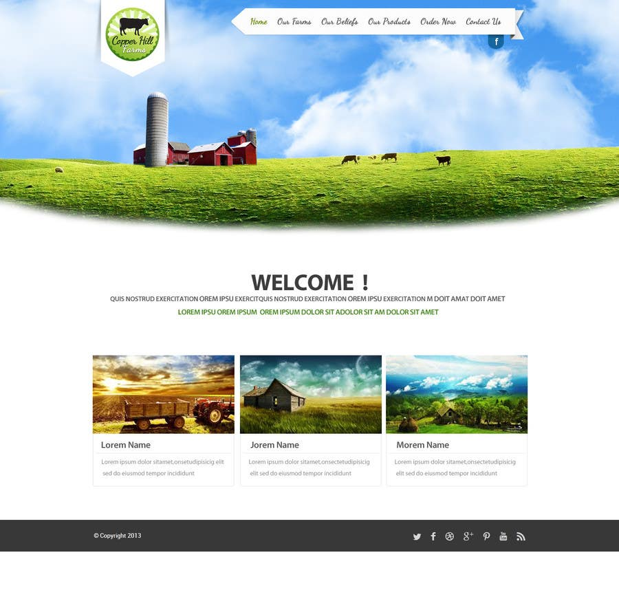 #11 for Design a Website Mockup for IslandFarming.com & Logo by SadunKodagoda