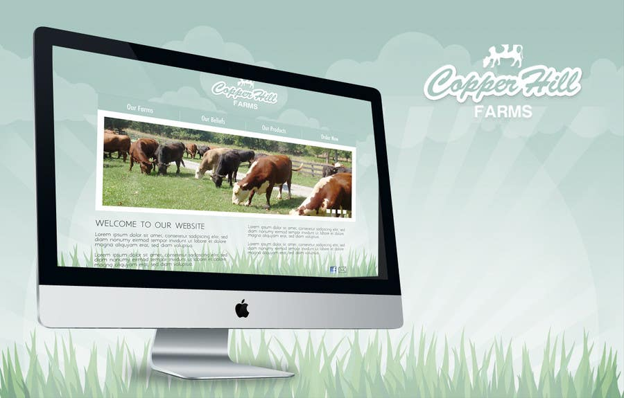 #14 for Design a Website Mockup for IslandFarming.com & Logo by vimoscosa