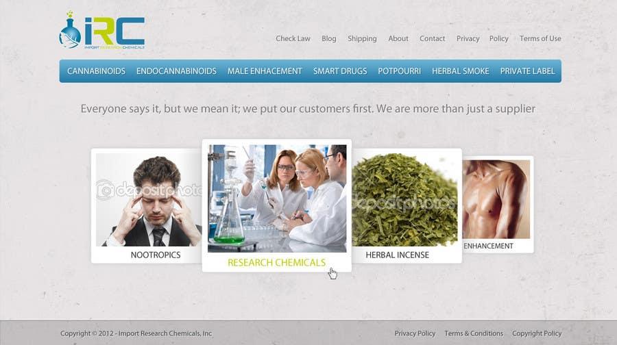Penyertaan Peraduan #11 untuk Wordpress Theme Design for Import Research Chemicals