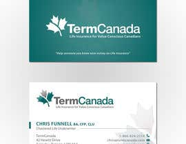 #109 untuk Design some Business Cards for TermCanada oleh sashadesigns