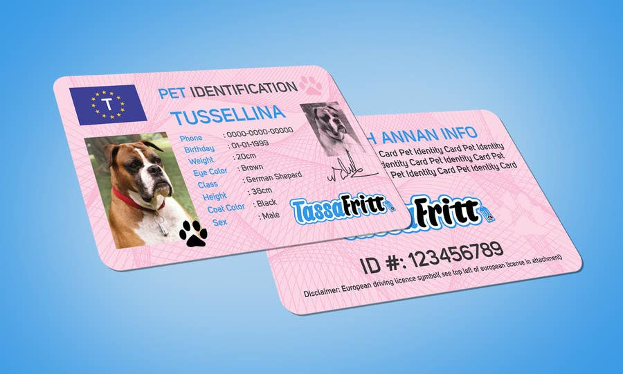 Entry 46 By Minadeali For Design An Identification Card For Pets