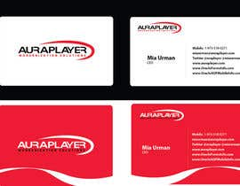 #8 untuk Design some Business Cards for AuraPlayer oleh rilographics
