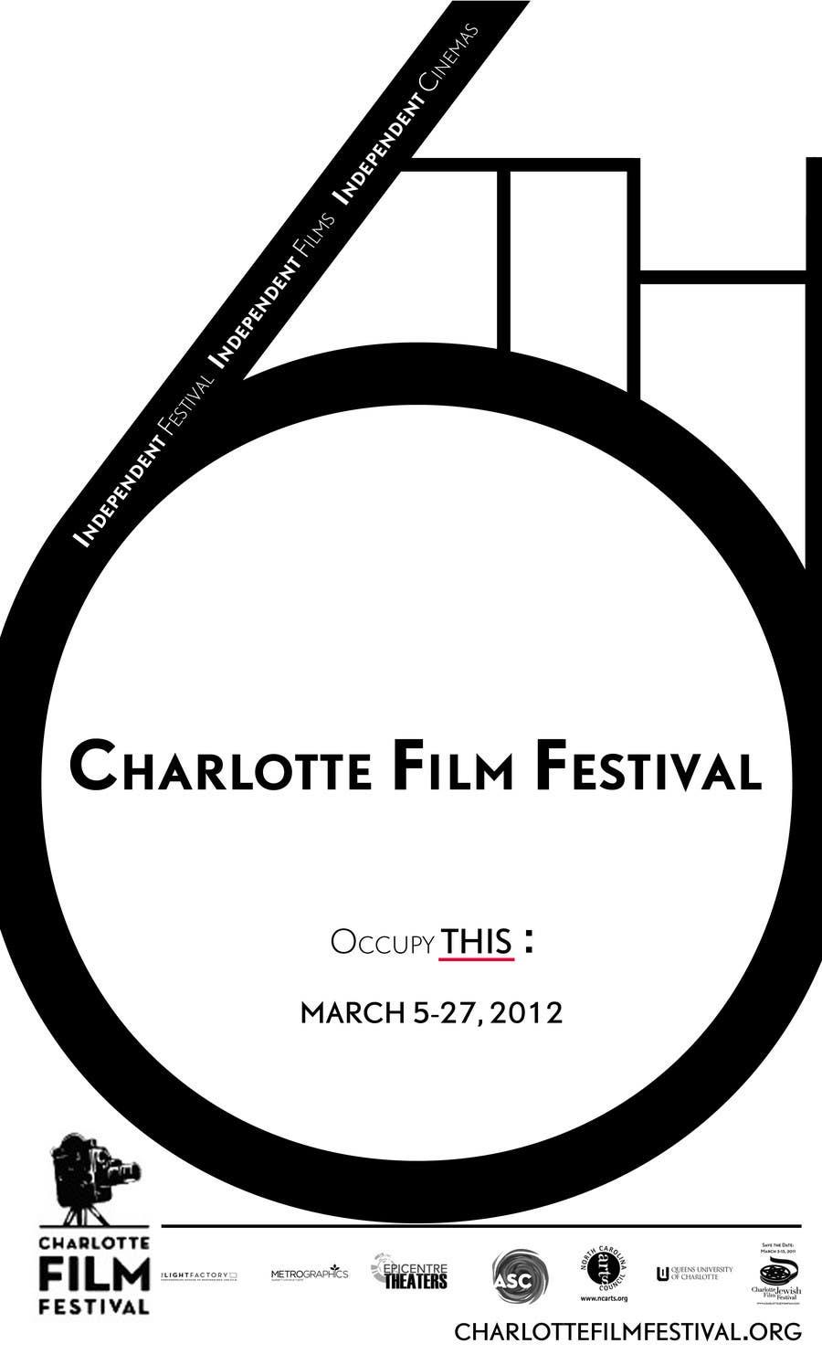 Inscrição nº 79 do Concurso para Design materials for the Charlotte International Film Festival